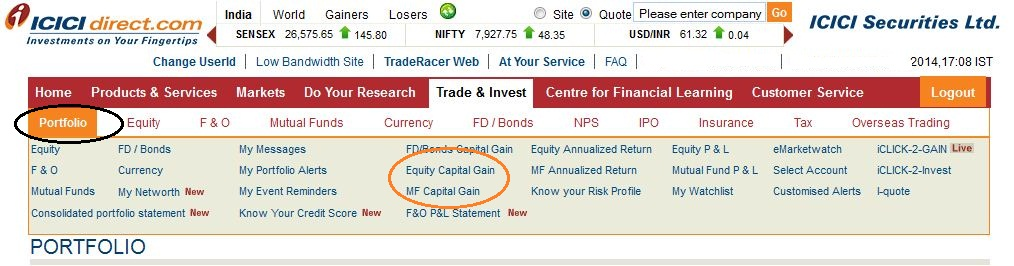 Short term capital gains on stock options
