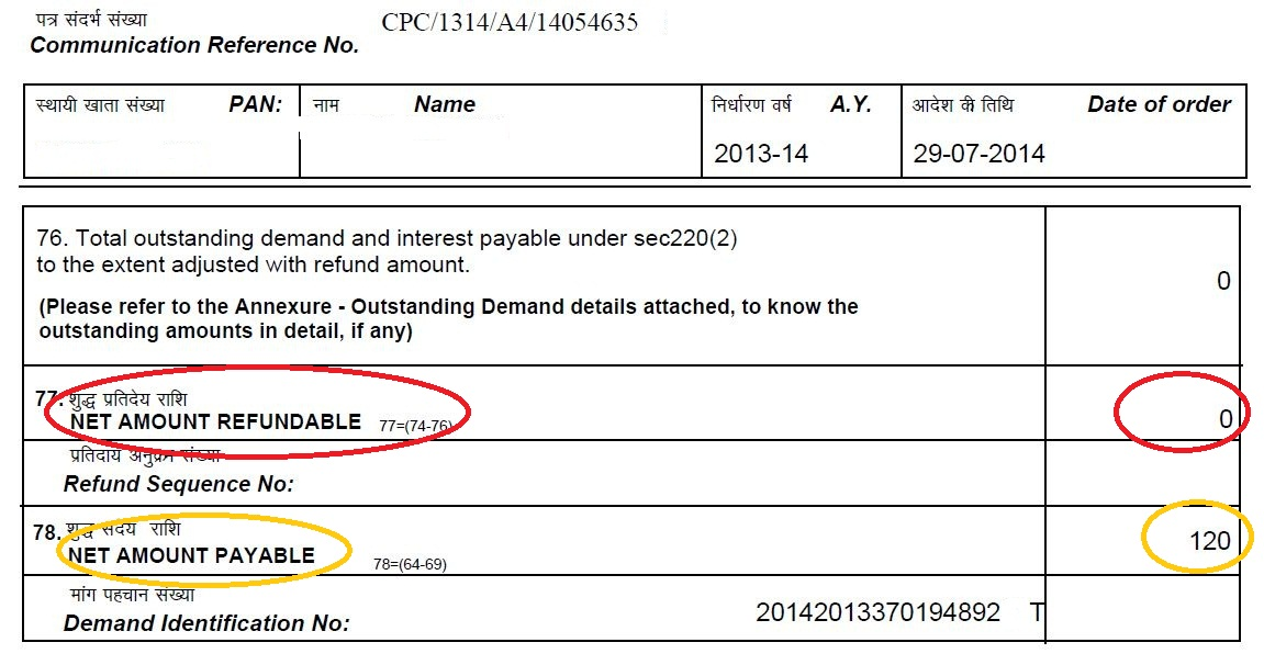 Outstanding income Tax demand and refund143(1) - 3