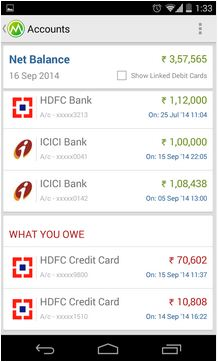 Money view app bank balances
