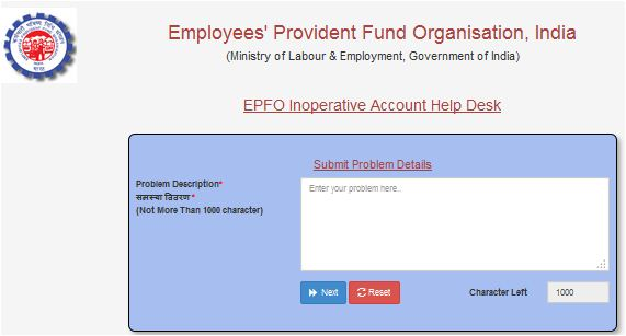 EPFO inoperative EPF account 3