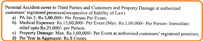 LPG accident insurance cover details