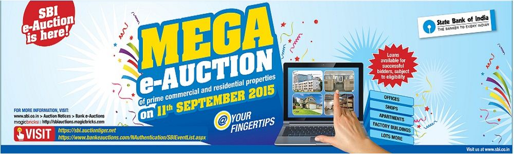 SBI Mega e-auction online bidding september 2015