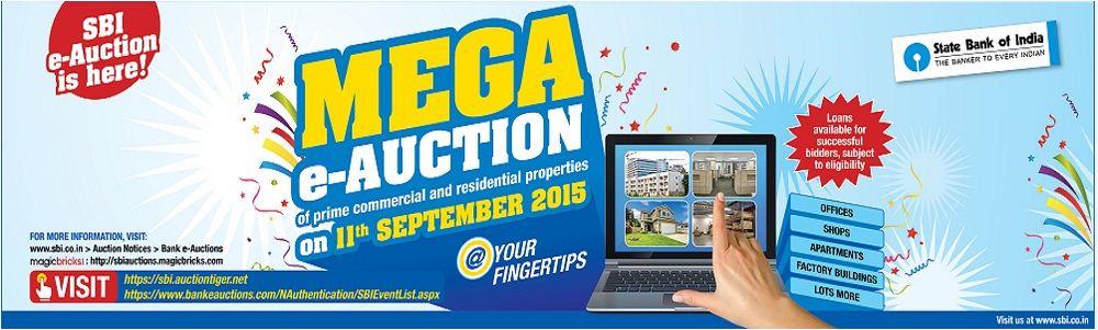 SBI Mega e-auction online bidding september 2015