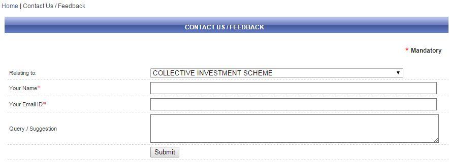 SEBI grievence redressal contact CIS