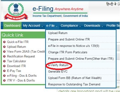 everify income tax return