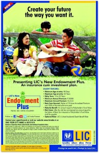 LIC New Endowment Plus policy brochure pic