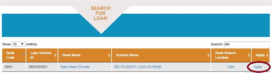 Vidya Lakshmi Portal search educational loan schemes