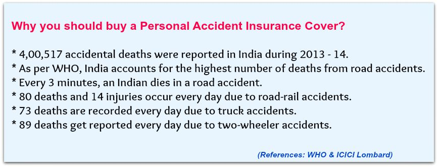 Why to buy Personal accident insurance cover