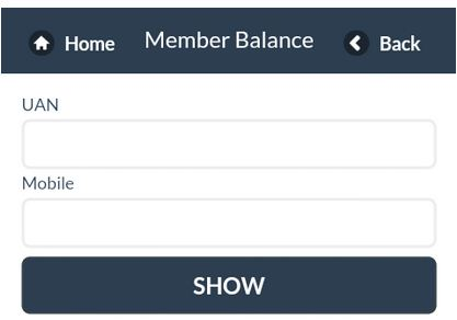 Check EPF balance through Mobile Application