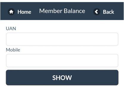 Check EPF balance through Mobile Application