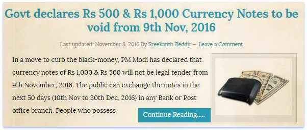 Rs 500 rupee note rs 1000 rupee note banned in india from 9th november
