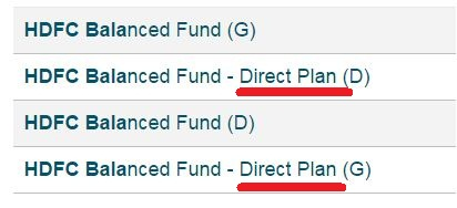 Direct mutual fund schemes example