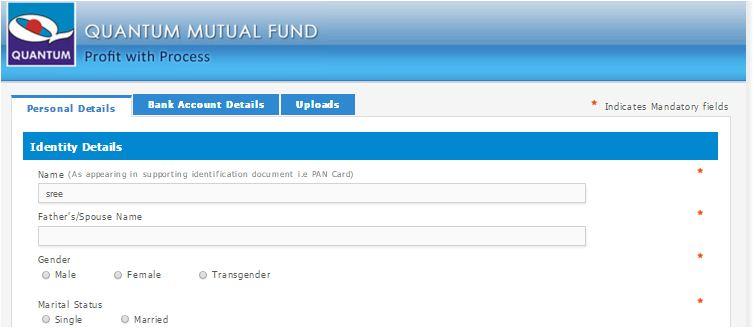 E-KYC process quantum mutual fund