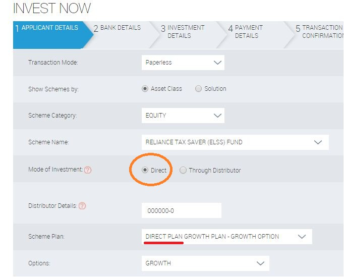 Regular Vs direct mutual fund schemes invest online in direct plans