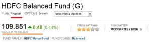 Regular mutual fund scheme NAV