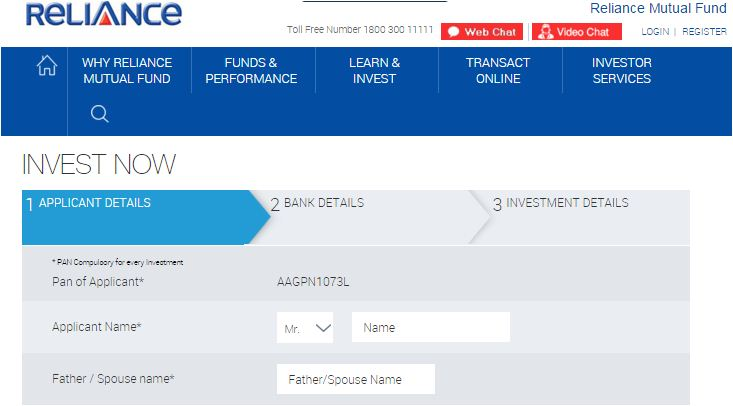 Reliance mutual fund ekyc procedure