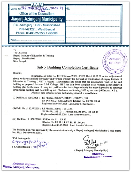 Occupancy certificate completion certificate importance building completion certificate sample pic occupancy certificate yadclub Image collections