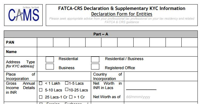 Fatca Compliance  Mutual Fund Investments In India