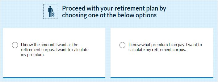 HDFC Clicktoretire premium or sum assured calculation