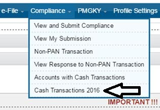 Income Tax dept Operation Clean money SMS Email Cash deposit 2016 Nov Dec Compliance notice