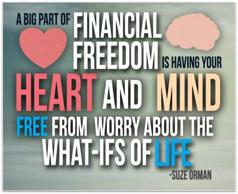 financial freedom quote pic