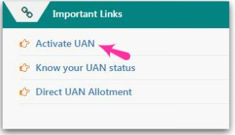Activate directly allotted UAN online on EPFO unified member portal pic