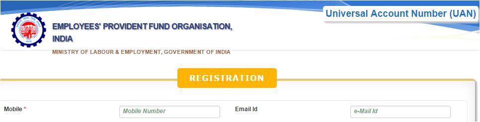 EPF UAN registration online