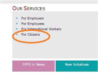 EPFO UAN citizen services