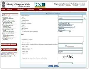 ministry of corporate affairs lodge complaint online SEBI pic