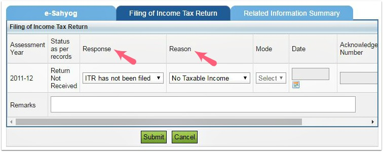 non filing of income tax return notice online response reasons pic