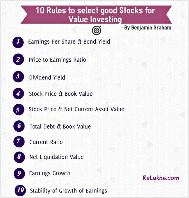 Best Stocks Identify good Value stocks value investing benjamin graham pic