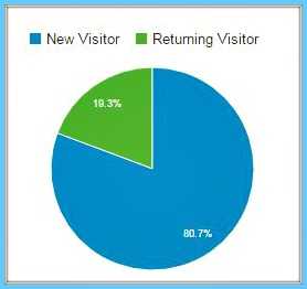 Relakhs website statistics new visitor vs returning visitor pic