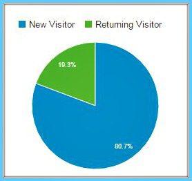 Relakhs website statistics new visitor vs returning visitor pic