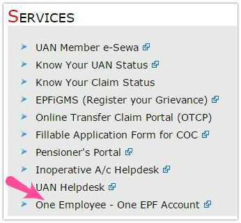EPFO Services one Employee one EPF Account pic