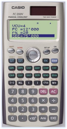 Personal Financial Calculators Casio FC 200V pic