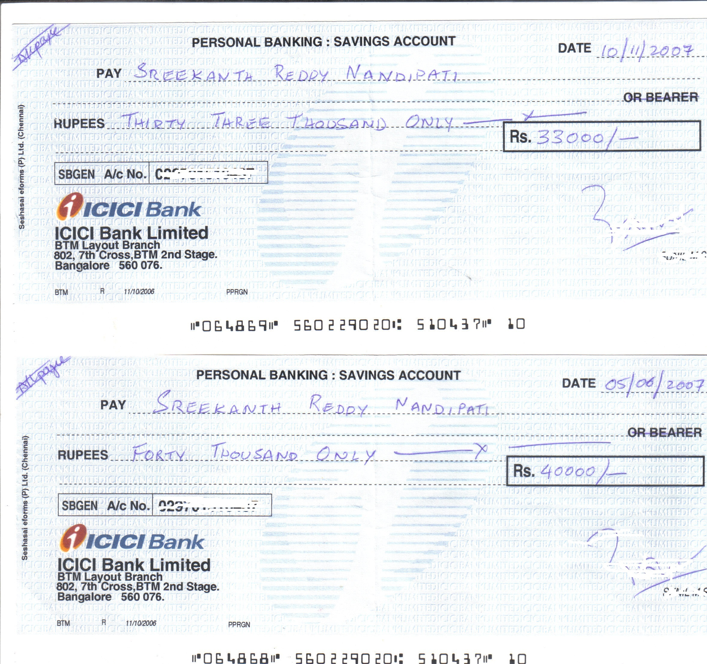 how to prepare a cash cheque