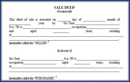 Download Real Estate Property Sale Deed Format Template Draft in India pic