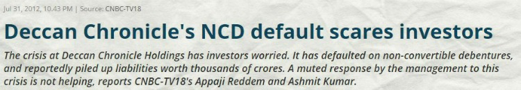 NCD default deccan chronicle pic