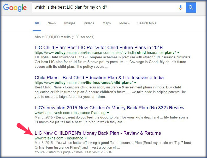 google-search-result-best-child-plan-investment-option-pic