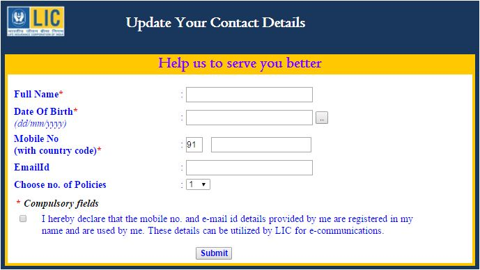 update-your-contact-details-on-lic-policy-online