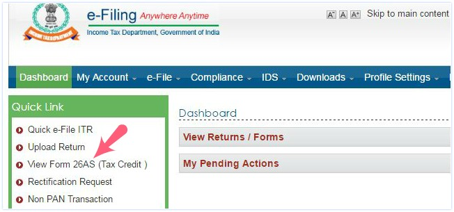 access-form-26as-income-tax-efiling-website-pic