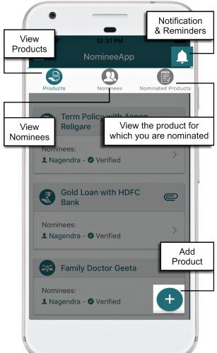 add-product-add-nominees-in-nomineeapp-mobile-app-image