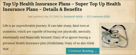 Best Super Top Up health insurance plans pic