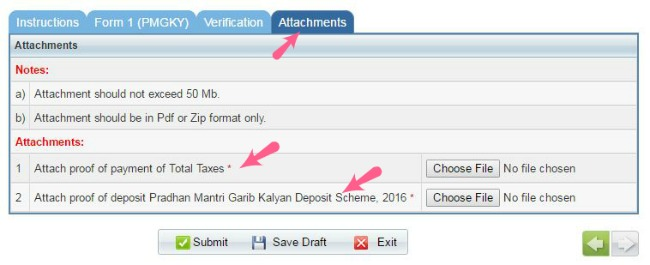 pmgky tax on black money tax penalty on undisclosed cash bank deposits attach proofs