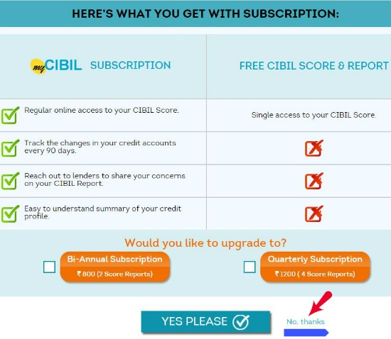 Get Free CIBIL Credit report credit score Equifax Experian online subscription