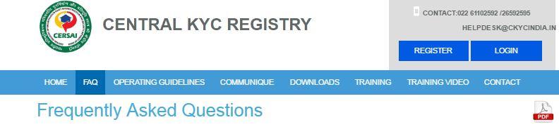 Central KYC FAQs
