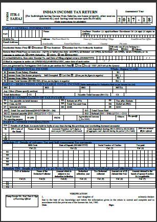Income Tax Saral Form 2015 16 Pdf