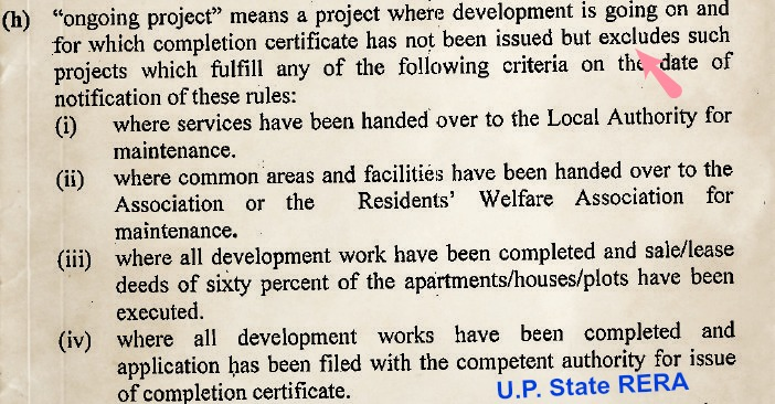 RERA Real estate Regulations Development Act 2017 State goverment Uttar pradesh pic