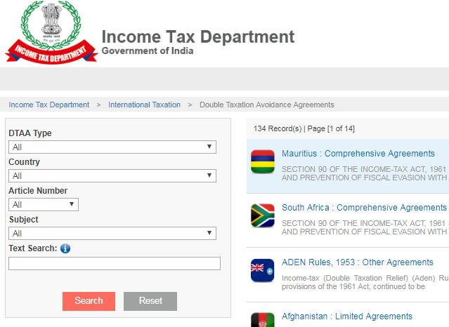 Tax Treaties DTAA documents pdf download India with other countries USA UK Canada UAE Australia Singapore South Africa