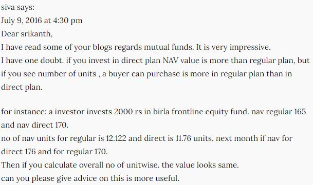 Mutual Fund Schemes NAV Net Asset Value Misconceptions Direct Mutual Fund Plan Regular Plan